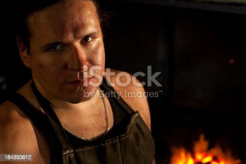 istock Blacksmith portrait 184350612
