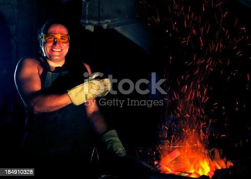 istock Blacksmith portrait 184910328