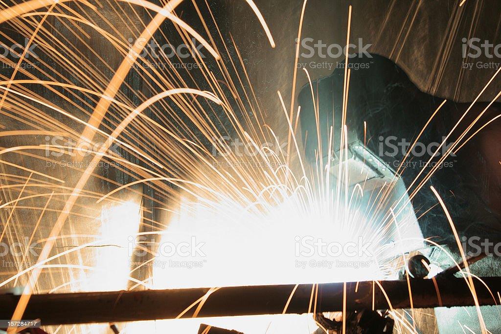 Black-smith welding steel royalty-free stock photo