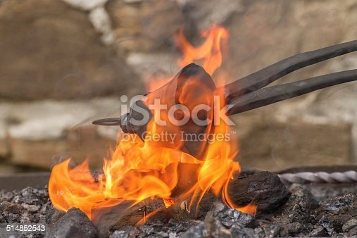 istock Blacksmith working 514852543