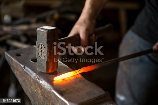 istock blacksmith working 547224670