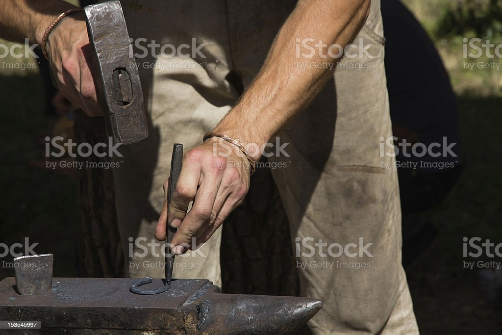 Blacksmith works stock photo