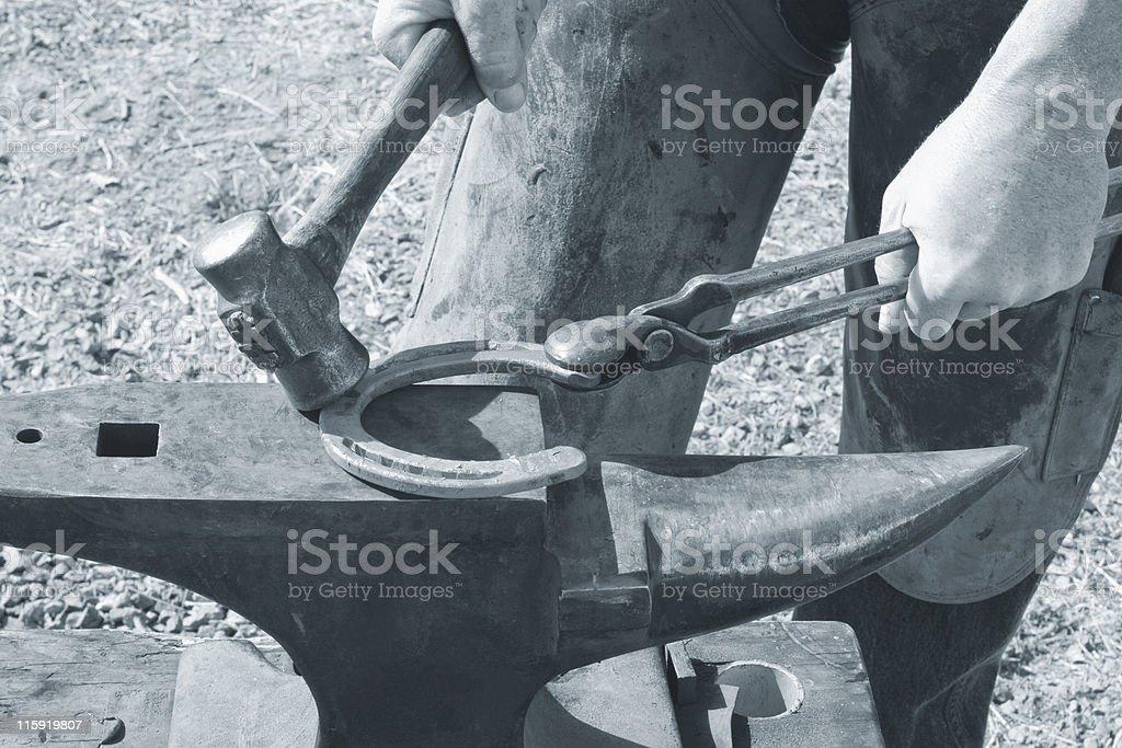 Blacksmithing Duotone royalty-free stock photo