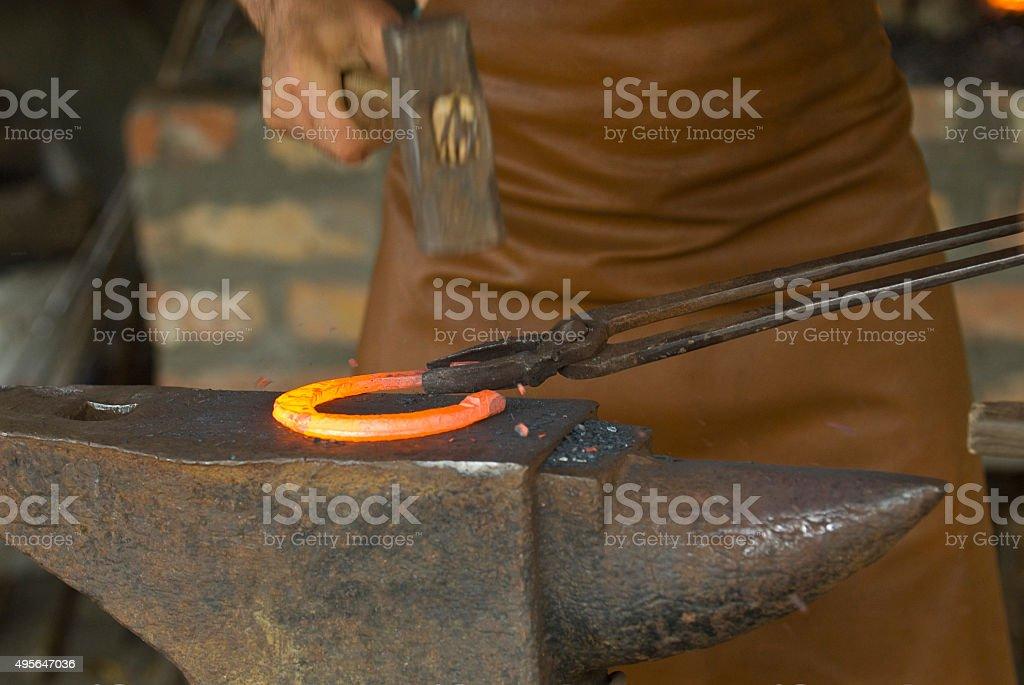blacksmith's work stock photo