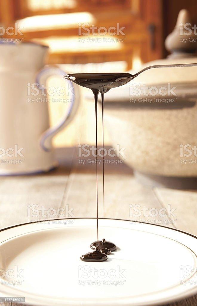 Blackstrap molasses stock photo