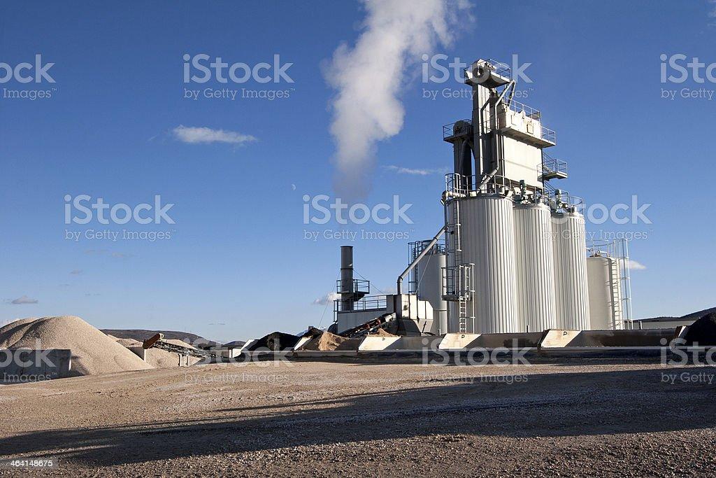 Blacktop factory Lizenzfreies stock-foto