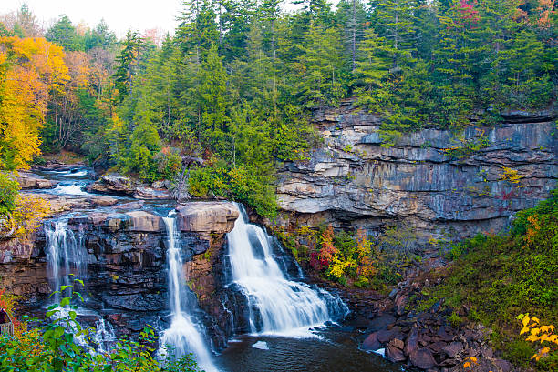 Blackwater Falls at Sunrise stock photo