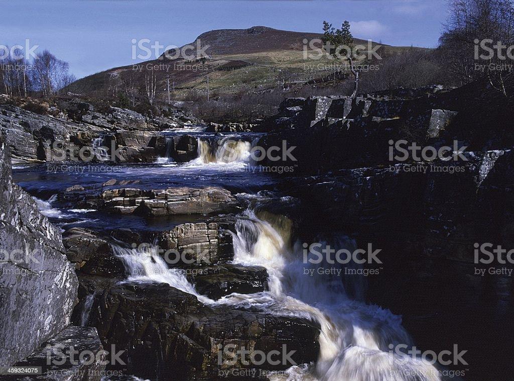 Blackwater Strathgarve Ross-shire Scotland stock photo
