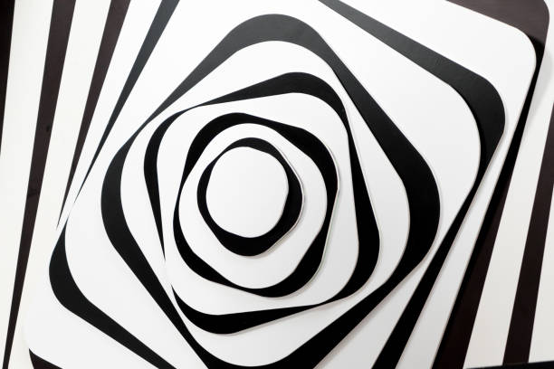 black&white patterns - abstract logo stock photos and pictures