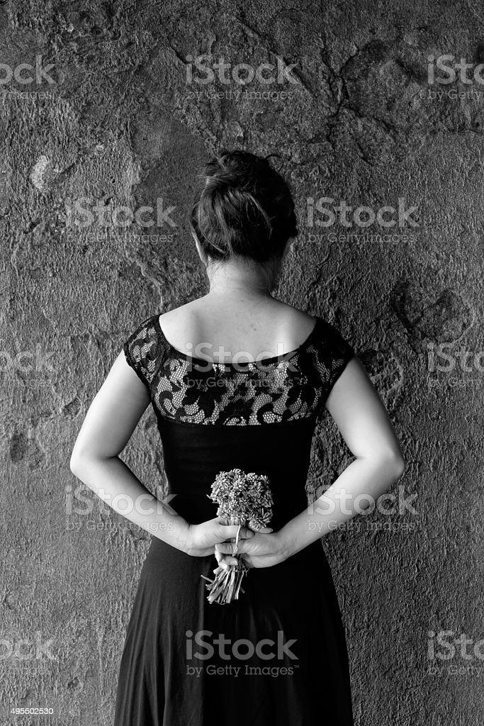 фото фотосессия в черном платье креативные черно белые забывать