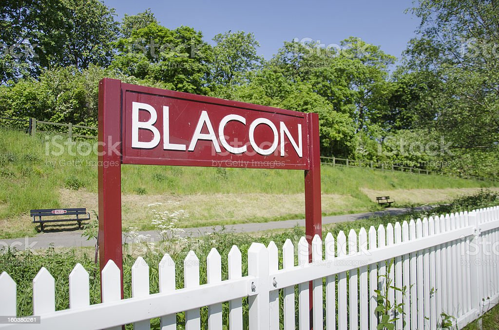 Blacon Sign by White Fence on Chester Greenway royalty-free stock photo