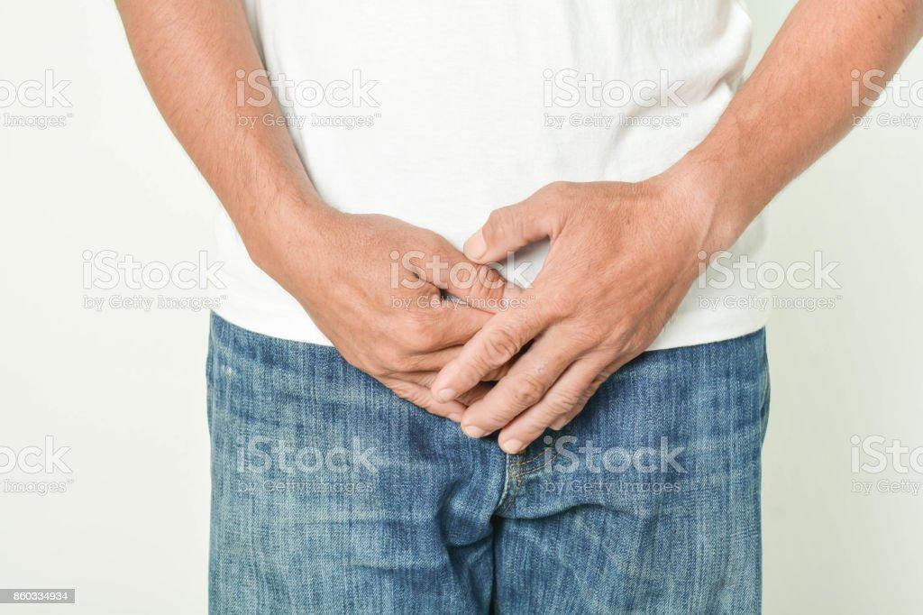 Bladder inflammation in men stock photo
