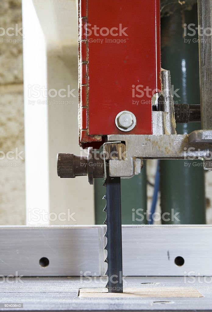 Blade Detail Of Small Woodworking Band Saw royalty-free stock photo