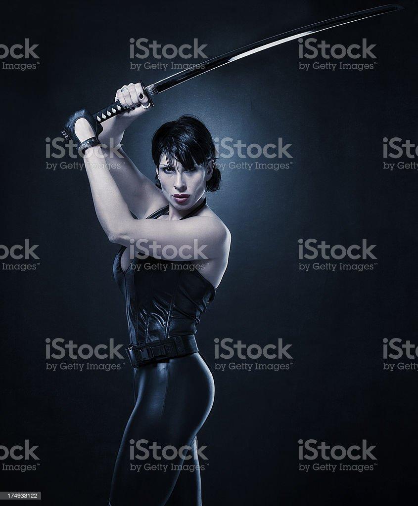 Blade, female version stock photo