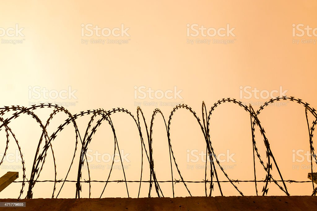 blade fence royalty-free stock photo