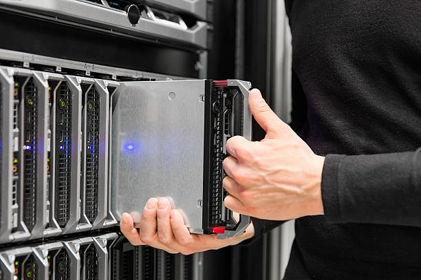 Blade-server installation in großen datacenter – Foto