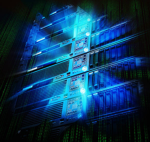blade storage supercomputer of data center with splash - flash stock photos and pictures