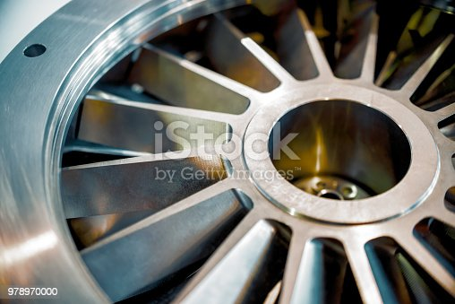 536680742 istock photo Blades molecular vacuum pump. Abstract industrial background 978970000