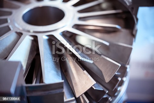 536680742 istock photo Blades molecular vacuum pump. Abstract industrial background 984139944