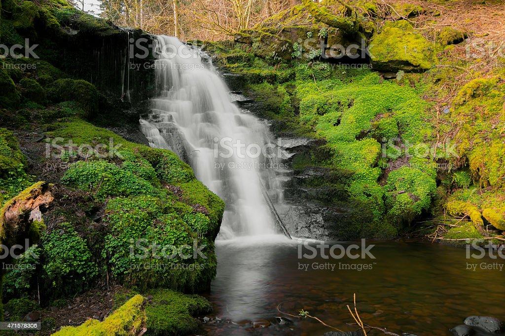 Blaen y Glyn...Waterfalls. stock photo