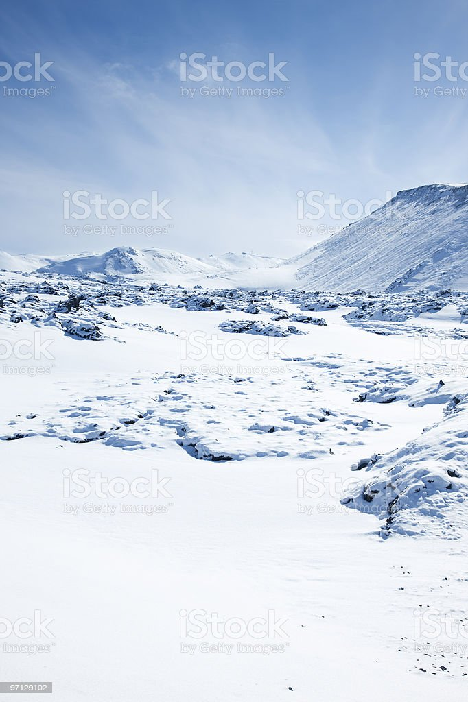 Blafjoll mountains in Iceland stock photo