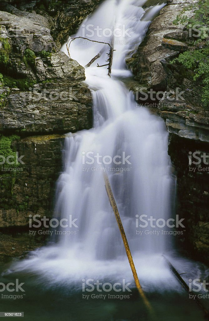 Blakiston Falls royalty-free stock photo