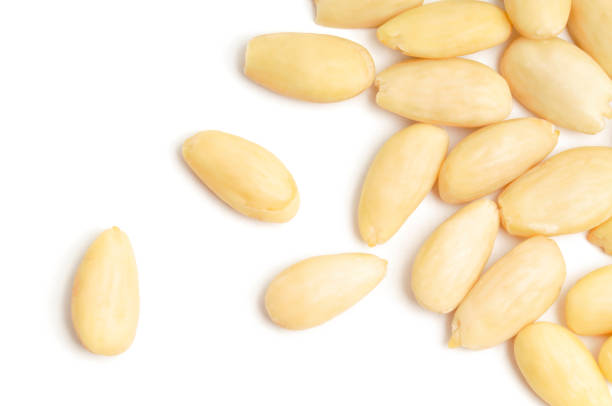 Blanched Almonds Scattered stock photo