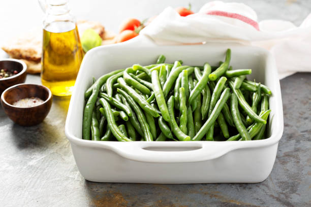 blanched green beans - 그린빈 뉴스 사진 이미지