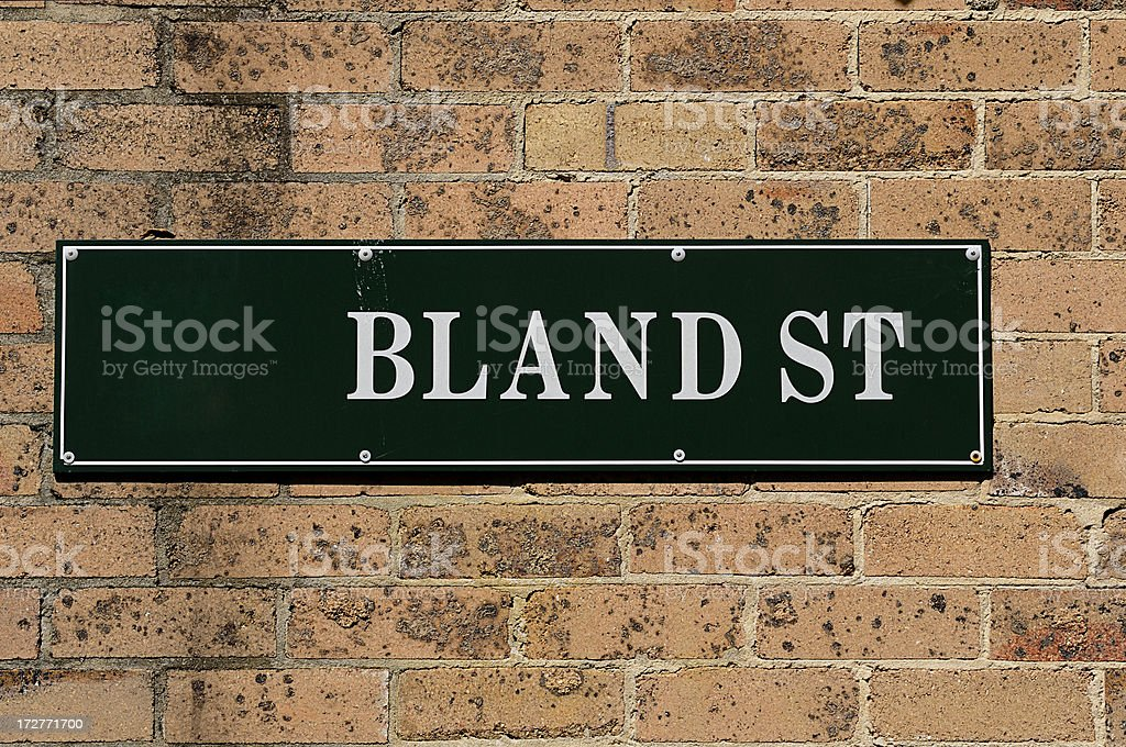 Bland St royalty-free stock photo
