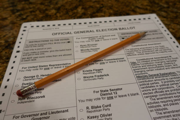 blank 2018 midterm ballot - ballot stock pictures, royalty-free photos & images