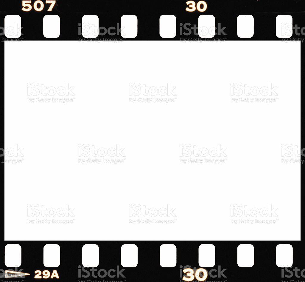 Real Blank 35mm Film Frame Stock Photo More Pictures Of Accuracy
