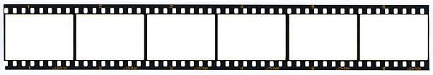 Blank 35MM film strip Strip of blank 35mm film frames  negative image technique stock pictures, royalty-free photos & images