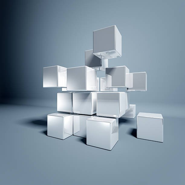 blanc 3d de cubes - cube photos et images de collection