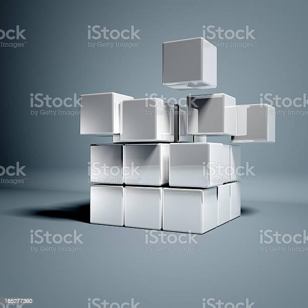 Leere 3d Würfel Stockfoto und mehr Bilder von Würfel - Geometrische Form