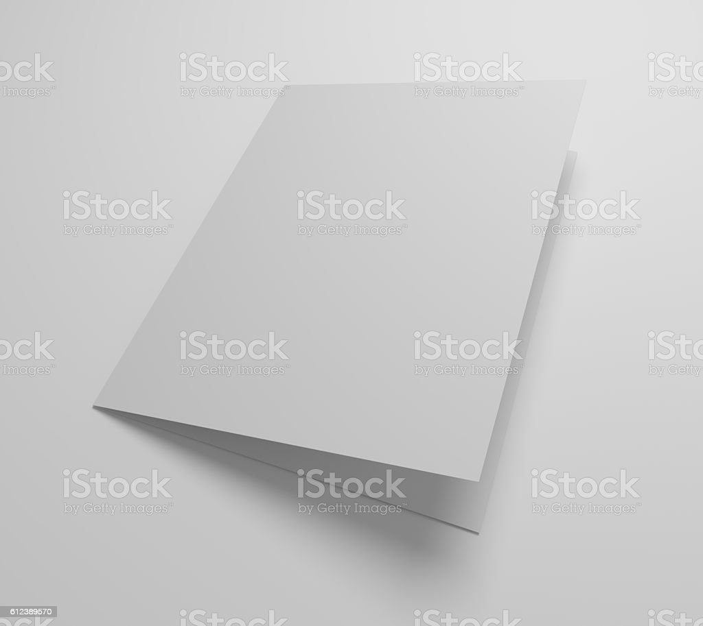 Blank 3d illustration greeting card mockup stock photo