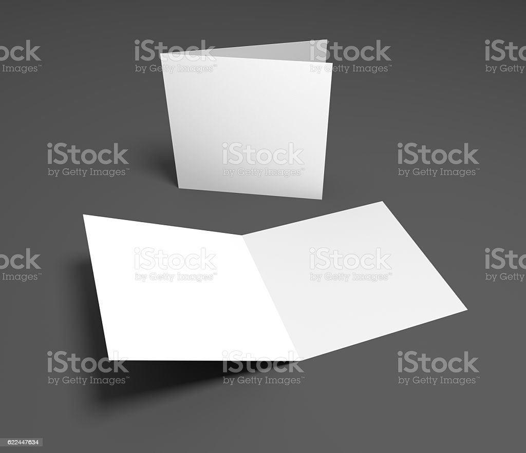 Blank 3d Illustration Open Square Greeting Cards Stock Photo More