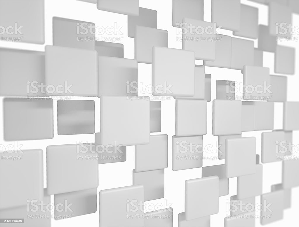 Blank 3d sqaures stock photo