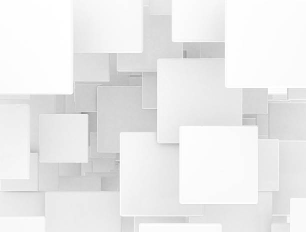 blank 3d squares stock photo