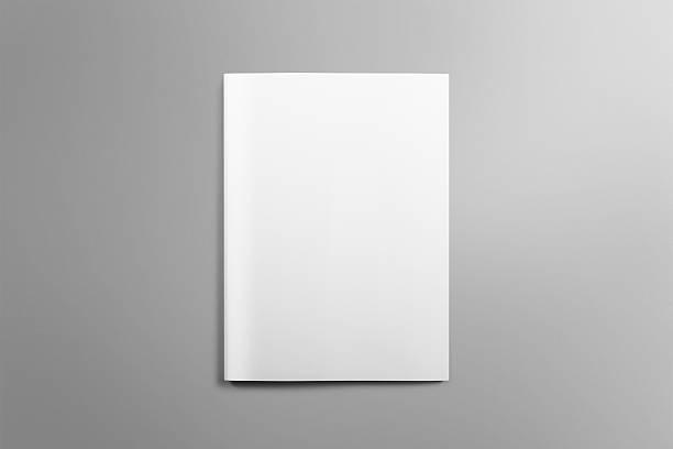 mockup vuoto Brochure A4 su Sfondo grigio chiaro. - foto stock