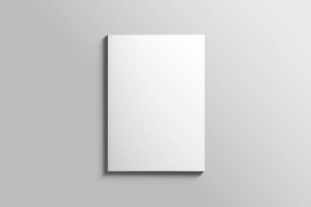 Blank A4 photorealistic brochure mockup on light grey background. Blank A4 photorealistic brochure mockup on light grey background. catalog stock pictures, royalty-free photos & images