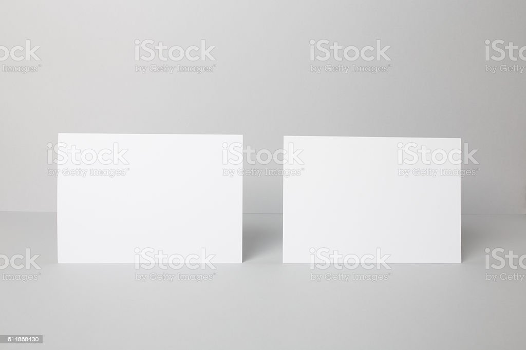Blank A5 Flyer Mock-up stock photo