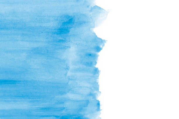 Blank Abstract Blue Watercolor Background stock photo