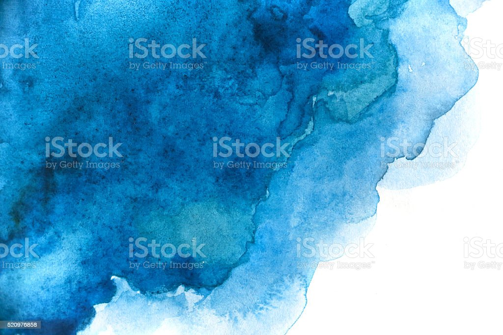 Blank Abstract light watercolor background isolated on white bildbanksfoto