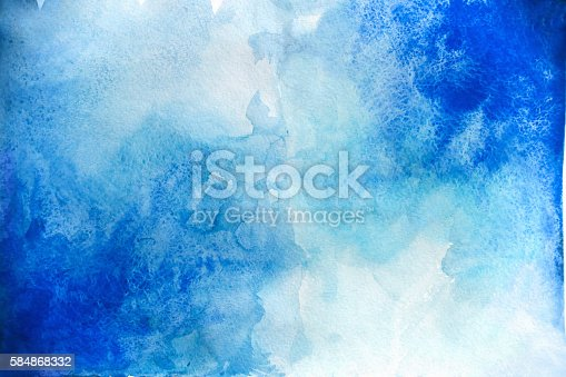 istock Blank Abstract light watercolor background isolated on white 584868332