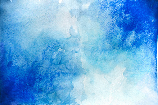 Blank Abstract light watercolor background isolated on white