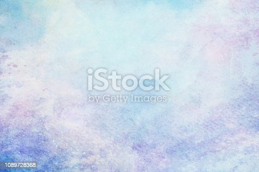 istock Blank abstract light watercolor paper background 1089728368