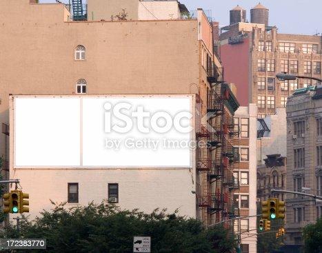 istock Blank ad billboard space in Manhattan 172383770