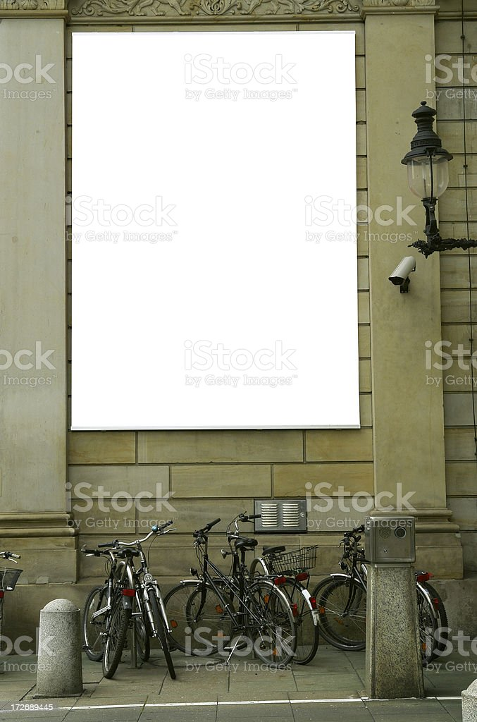 Blank Ad royalty-free stock photo