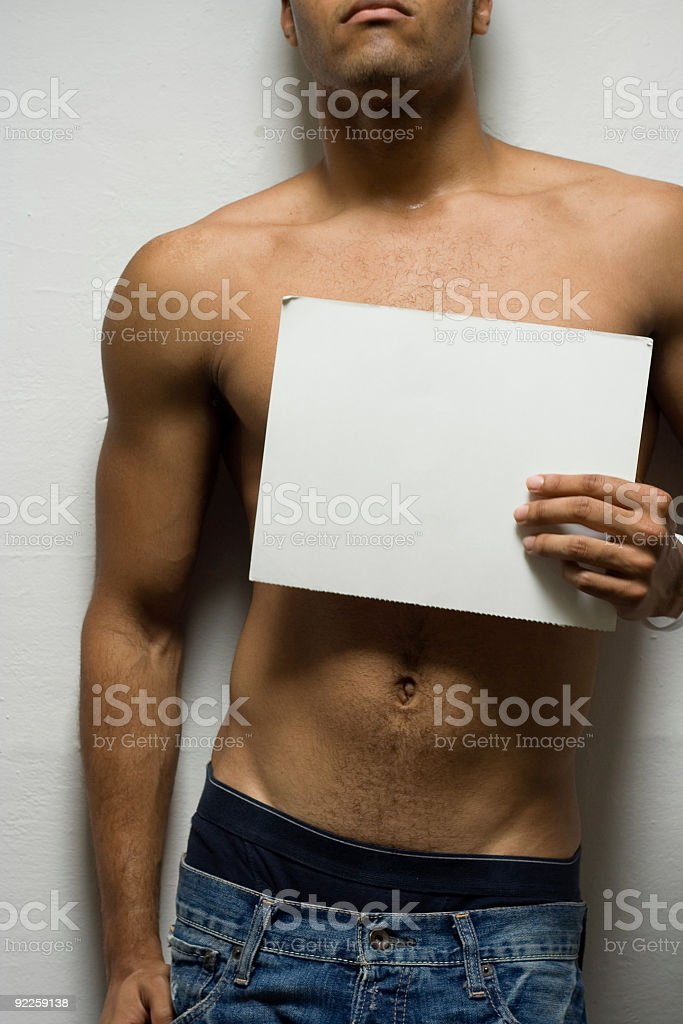 Blank ad royalty-free stock photo