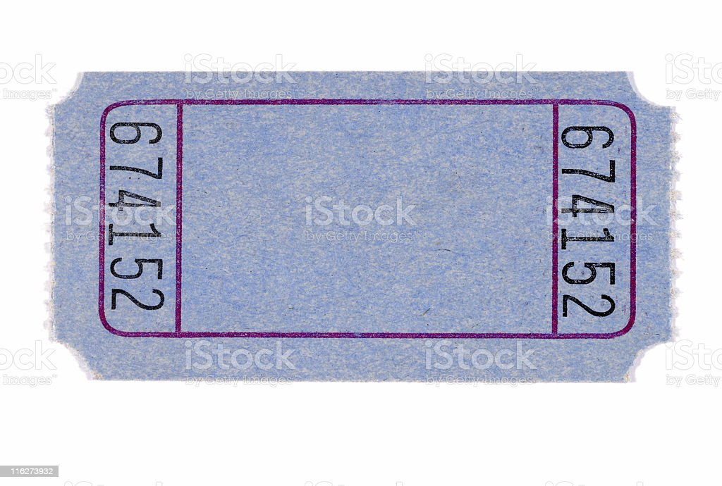 Blank admission ticket stock photo